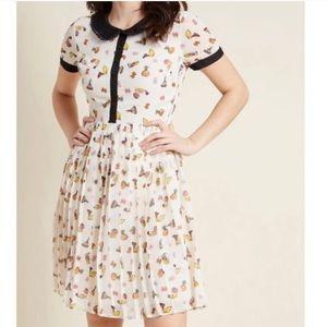 ModCloth vintage print collar shirt dress